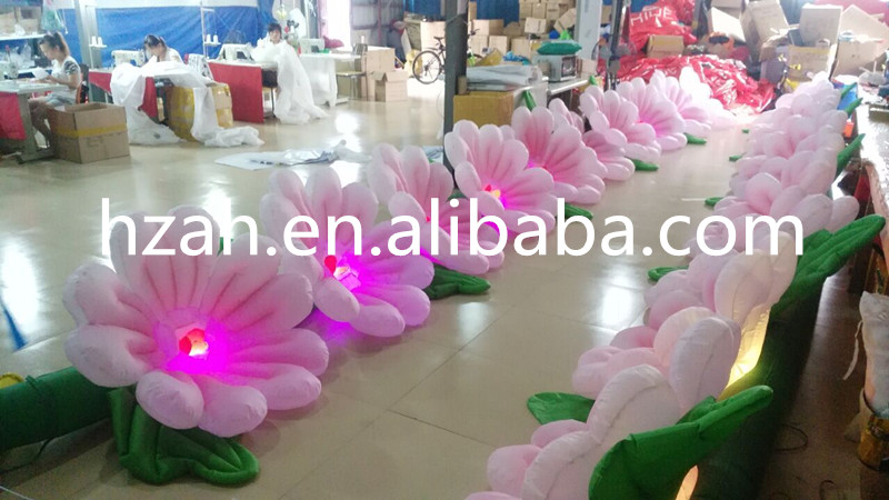 2017 New Inflatable Flower Long Wedding Decoration Flower