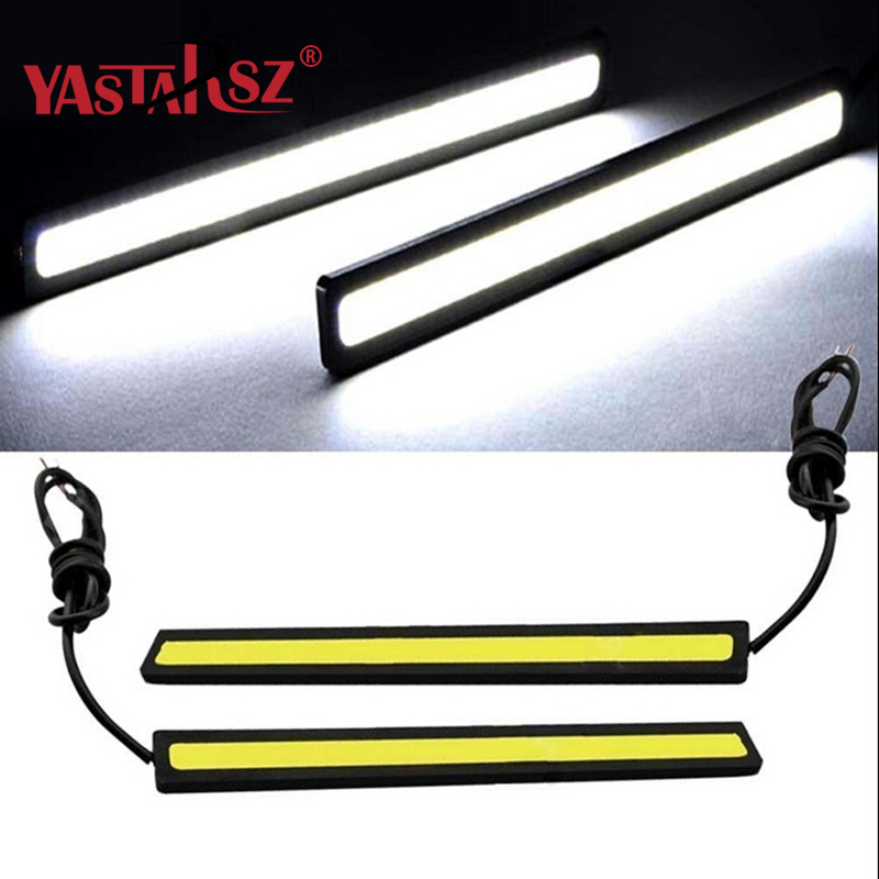 YASTARSZ 1Pcs Ultra thin 17cm COB DRL LED Daytime Running Light Auto Lamp External Lights For Universal Car 100% Car accessories 1pair ultra thin 17cm cob led car daytime running lights led drl waterproof daytime lights car styling parking free shipping