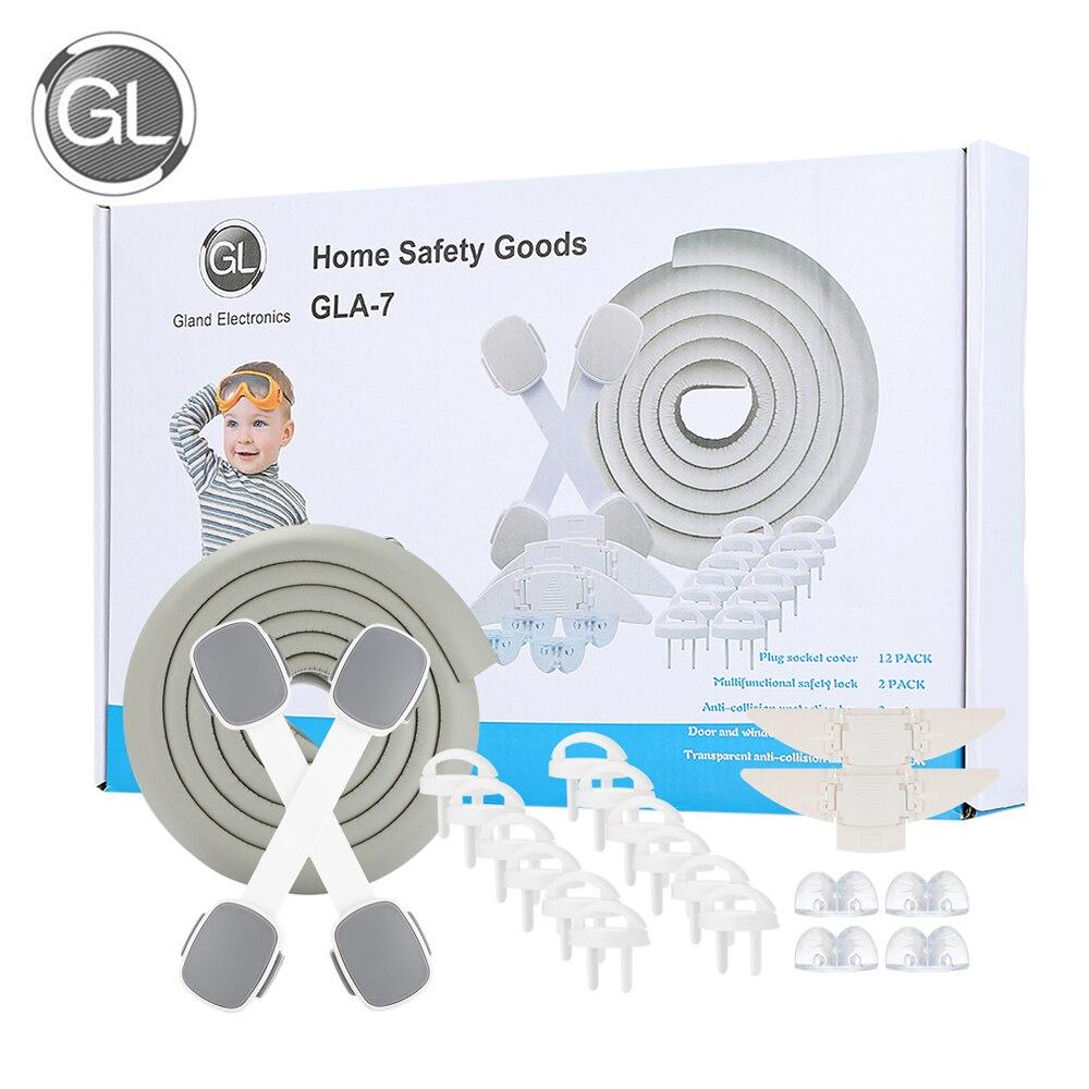 Conjunto Das Crianças Das Crianças de Proteção de Segurança Bebê Para Casa 2 xDoor GL/Trava De Segurança Janela 4 Protetor de Canto 2 xDrawer 1xtable Trava de segurança