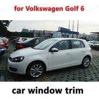 Стайлинг отделка окна декоративные полосы автомобиля внешние аксессуары для Volkswagen Golf 6 нержавеющая сталь