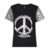 Hdy haoduoyi 2017 verão as mulheres de lantejoulas moda letra impressa top contraste patchwork tee magro breve t-shirt por atacado