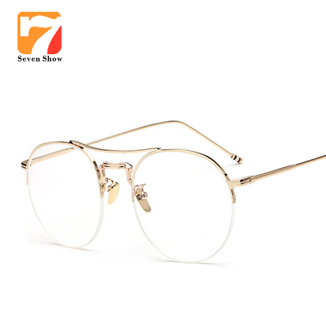 9833a8c552 Alloy Glasses Frame Ultralight Women Rose gold Semi-Rimless Prescription  Eyeglasses Myopia Spectacles Men s Half Optical Frames