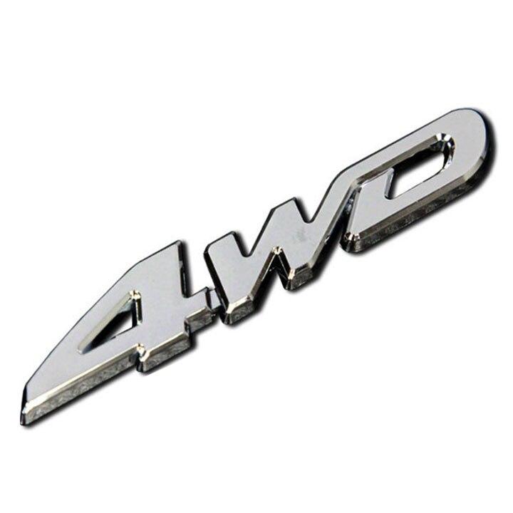 Prix pour Nulla 3D ABS Placage 4WD Badge Autocollant De Voiture Decal Accessoires Pour Toyota Highlander NISSAN X-trail XTrail X Trail accessoires