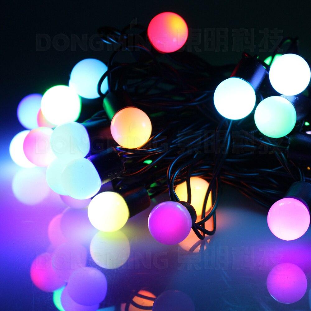 243950f2f1 China fábrica de 6 M 40led RGB 8 w Multi-Cor 220 V LEVOU Bola guirlanda de Natal  Luz Fada String para Férias Festa Decoração