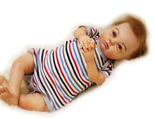 High quality real doll reborn-baby 22″  silicone newborn baby soft touch  girl boy brand dolls bebe gift reborn