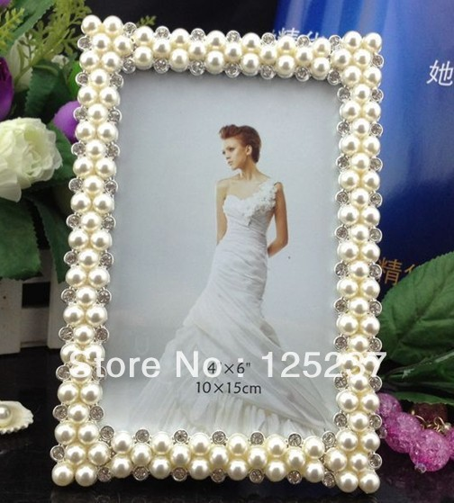 Pearl photo frames 4x6 wholesale picture frame wedding favors frames ...