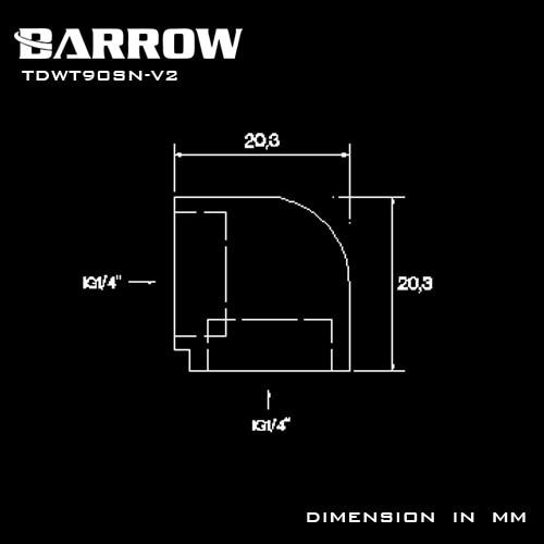 Купить с кэшбэком BARROW Gold Black Silver  double internal G1/4'' thread 90 degree Fitting Adapter water cooling Adaptors water TDWT90SN-V2