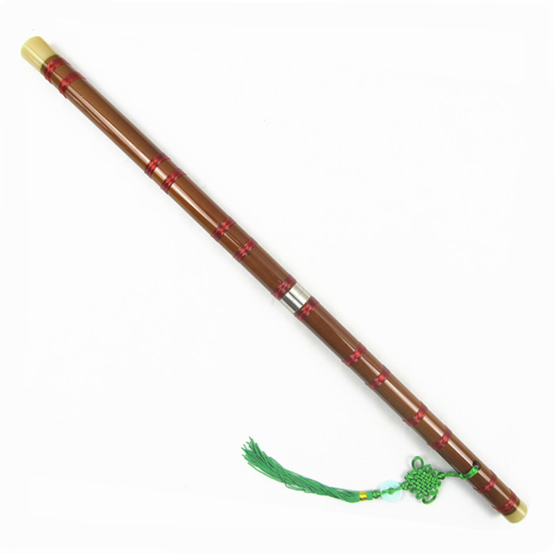 High Quality Chinese Dizi Natural Bamboo Flute Woodwind musical instruments C/D/E/F/G Key Copper Brass Plug Transverse Flauta