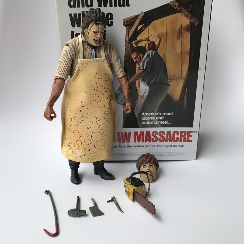 18 cm 40th Anniversary Ultimate Leatherface Classico Terrore Film The Texas Chainsaw Massacre Action Figure In 3D In Scatola