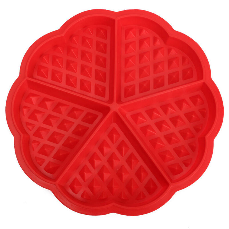 Microwave Cake Muffin Bakeware Cooking Tools Waffle Mold Maker Pan Baking Cookies Kitchen Accessories Supplies love shape