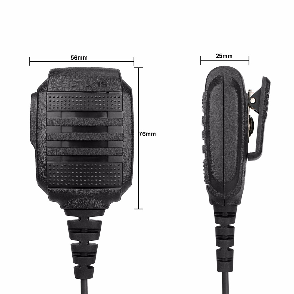 Image 4 - RETEVIS RS 114 IP54 Waterproof Speaker Microphone For Kenwood RETEVIS H777 RT5R RT22 RT81 BAOFENG UV 5R UV 82 888S Walkie Talkie-in Walkie Talkie from Cellphones & Telecommunications