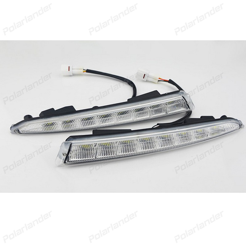 2 PCS auto fog lamp Car styling daytime running lights for F/ord k/uga Or E/scape 2013-2015 boomboost 2 pcs car accessory daytime running lights for f ord k uga or e scape 2013 2015 car styling