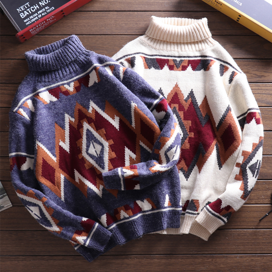 Winter Thick Couple Sweater Men Pullover 5xl Big Size Japanese Sweaters For Men Christmas Sweaters Turtleneck Plus Size Sweater