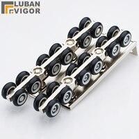 12 колеса раздвижные двери  ролик  высокая нагрузка  прочный  тихий дизайн  120 кг подшипника  дверное оборудование