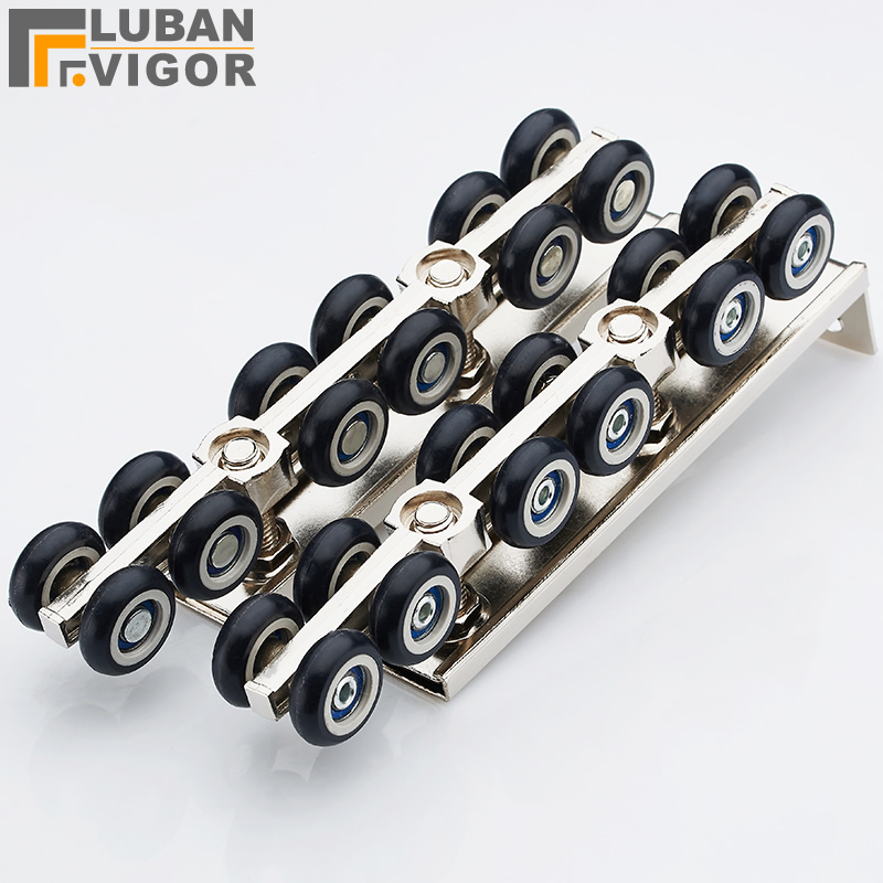 цена 12 wheels Sliding doors pulley,High load-bearing, durable,Quiet design, 120kg bearing, door hardware