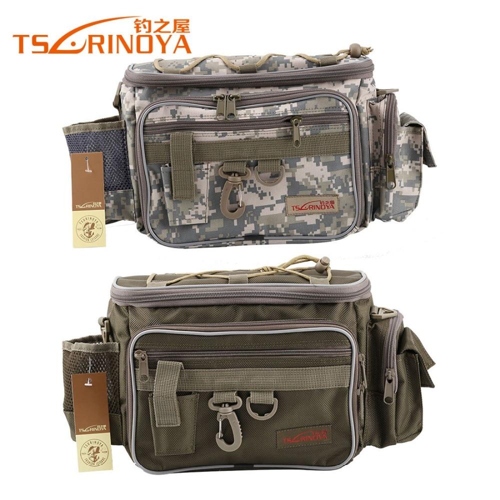Prix pour TSURINOYA 40*19*15 cm Toile Multifonctionnel Leurre Taille Pack Messenger Sac De Pêche Sac De Pêche Sports de Plein Air sac