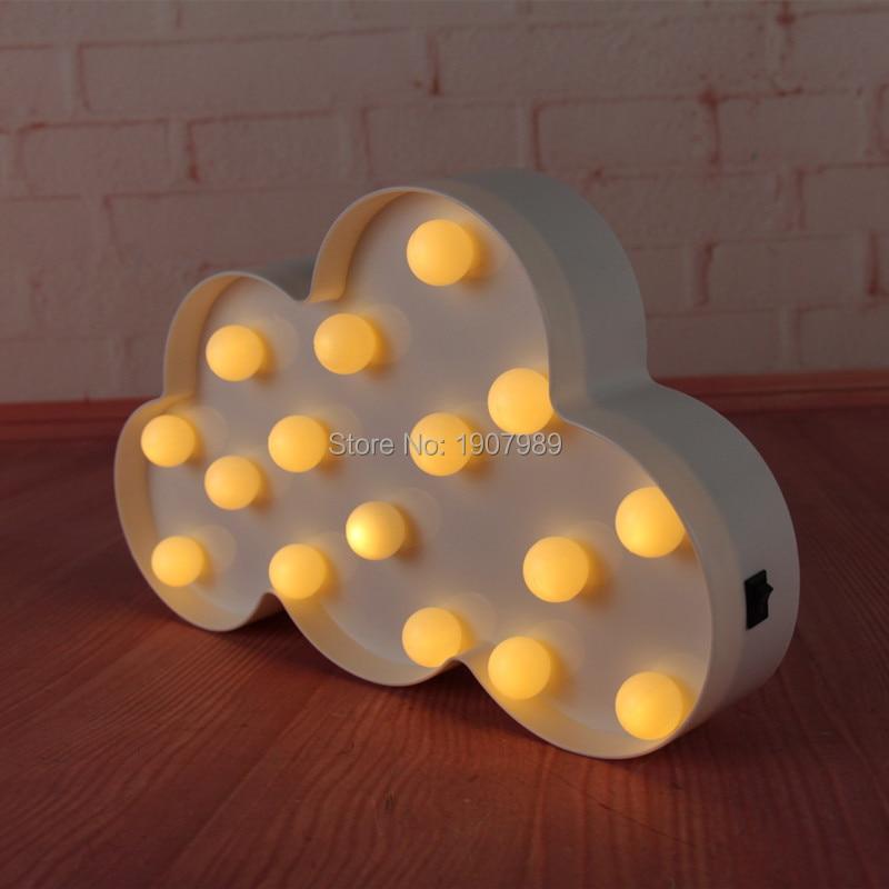 Yaradıcı LED 3D Buludlu Gecə Lampası Batareyası Ağ Bulud - Gecə işığı - Fotoqrafiya 2