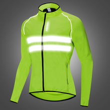 WOSAWE Motocross Safety Jacket High visibility Reflective Jacket Motorcycle mtb Windbreaker Wind Coat Men Women Waterproof wosawe cycling windbreaker jacket cycling motocross riding outwear lightweight waterproof coat mtb bike jersey reflective coat
