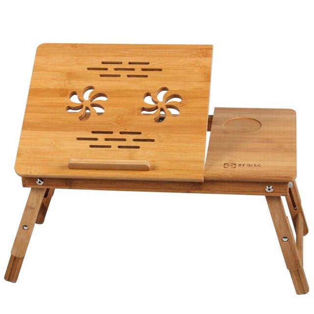 Barato de bambú cama escritorio de la computadora escritorio de la ...