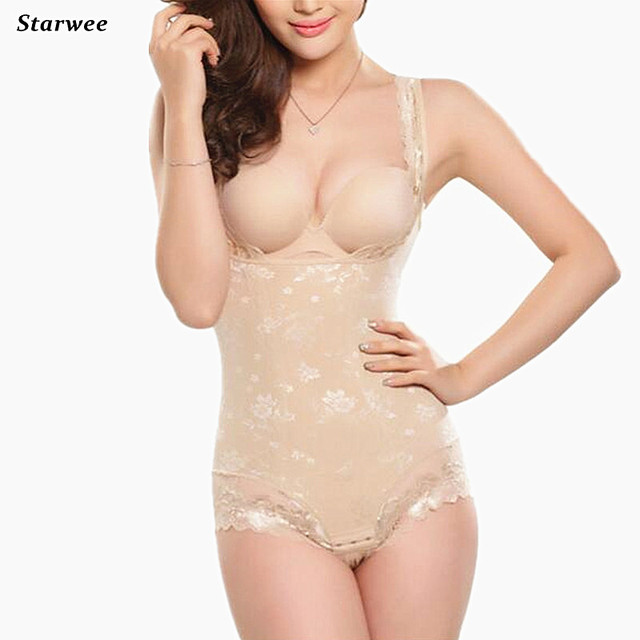 61dfd72391 Hot Shapers Women Lace Bodysuit shaper Waist Corset Underwear Body Postpartum  Girdles