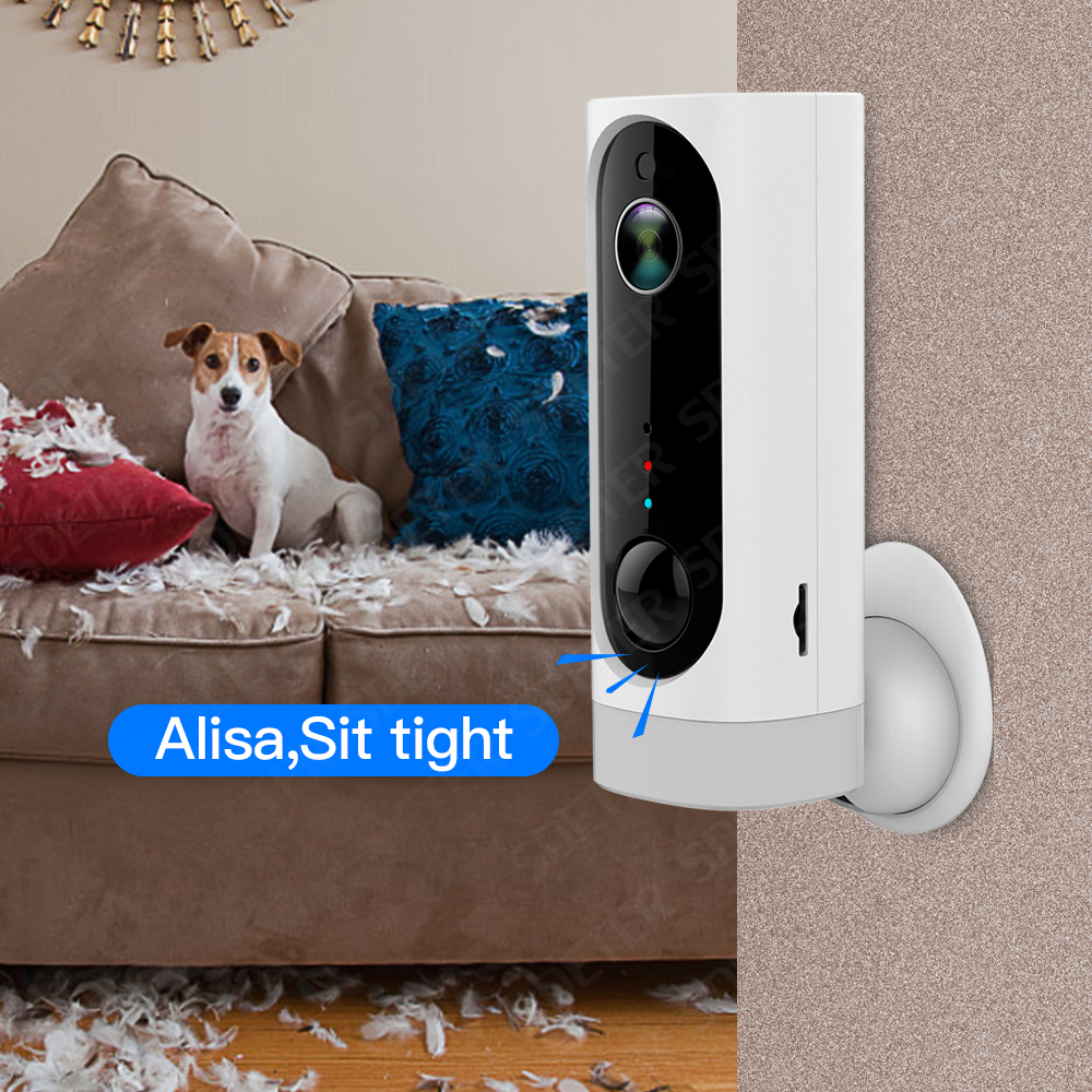 SDETER 100% Wire-Free Battery Wireless IP Camera-Wifi 720P Pet Camera Indoor Security Camera Video Monitoring Two Way Audio CamSDETER 100% Wire-Free Battery Wireless IP Camera-Wifi 720P Pet Camera Indoor Security Camera Video Monitoring Two Way Audio Cam