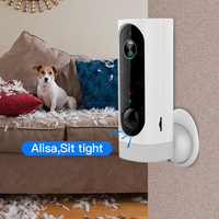 SDETER 100% Wire Free Battery Wireless IP Camera Wifi 720P Pet Camera Indoor Security Camera Video Monitoring Two Way Audio Cam