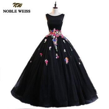 ab49bb4e4 Dulce 16 Vestido con cuello en V con cuentas de cristal Vestido de Quinceanera  Vestido 2019 manga apliques Debutante Vestido de 15 anos