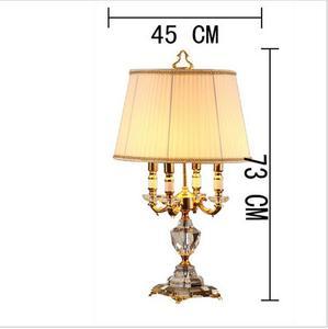 Image 5 - Pha Lê hiện Đại Đèn chiếu sáng phòng ngủ đèn ngủ thời trang cao cấp đèn bàn pha lê Abajur đầu giường khách sạn Đèn bàn K9 Cao Cấp