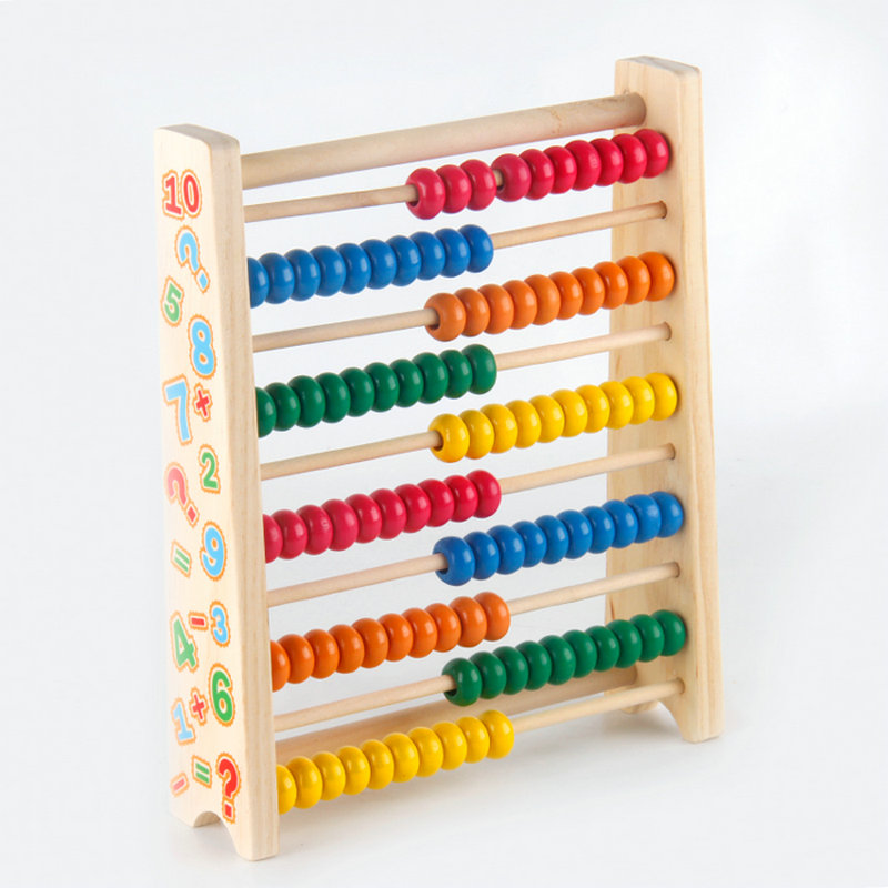 Free shipping Children Wooden abacus beads early childhood ...