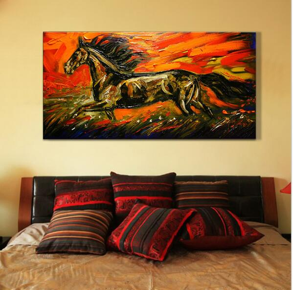 Discount Horse Oil Painting Handed Painted On Canvas Wall Art ...