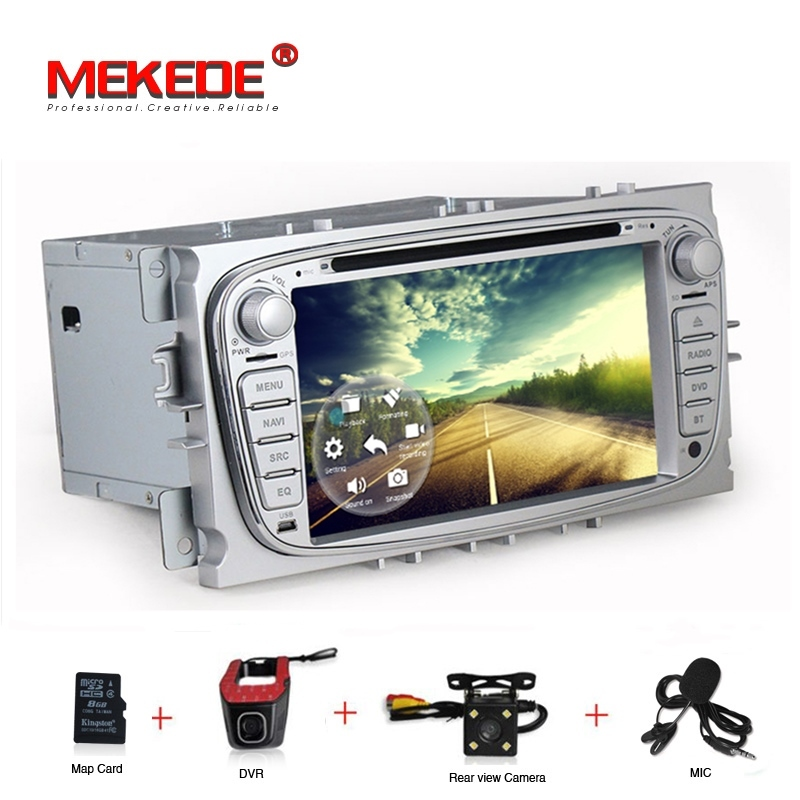 Free shipping Android 7.1 4G WIFI Car dvd multimedia radio audio GPS for Ford MONDEO S-MAX Galaxy Focus 2 2008-2011 free MIC Map