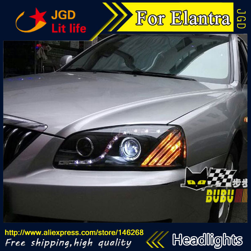 Free shipping ! HID Rio LED headlights headlight headlamps HID Hernia lamp accessory products For Hyundai Elantra 2004-2009 free shipping hid rio led headlights headlight headlamps hid hernia lamp accessory products for great wall haval h3 2005 2010