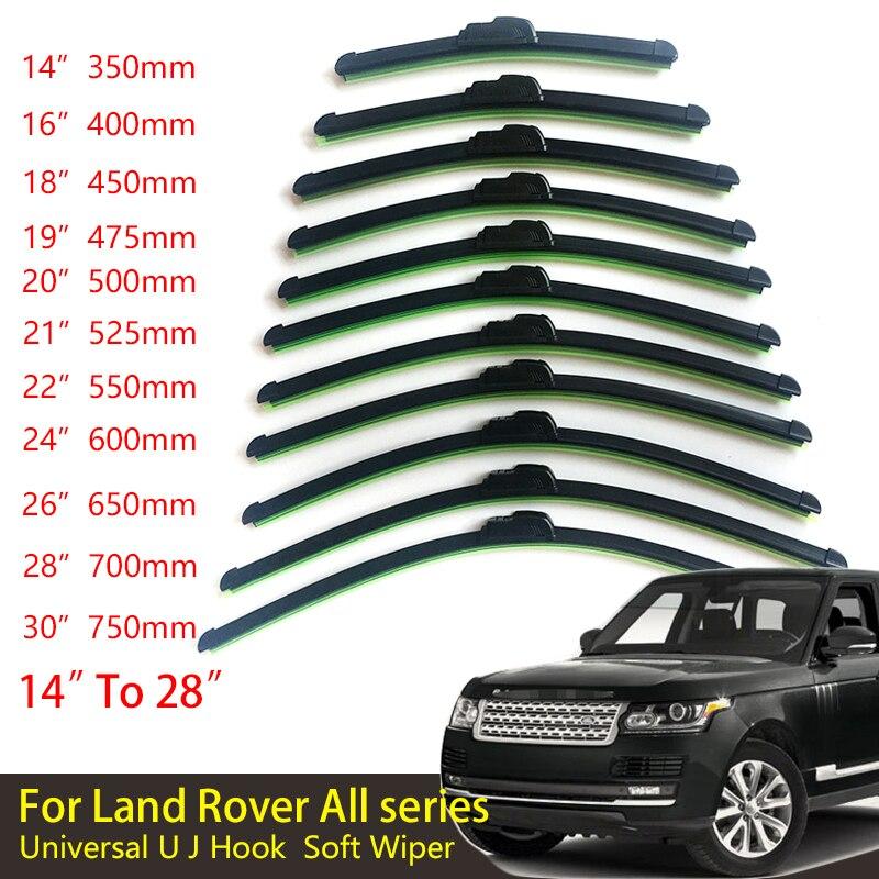 For Land Rover All Series Universal Car Windscreen Wiper Frameless U J Hook Soft Rubber Wiper blade Windshield Bracketless