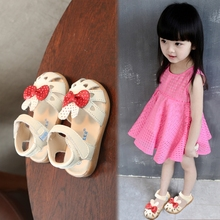 Genuine Leather Baby Sandals Girl Children's Shoes Toddler Shoes Soft Bottom Non-slip Princess Shoes Girls Sandals Bowtie