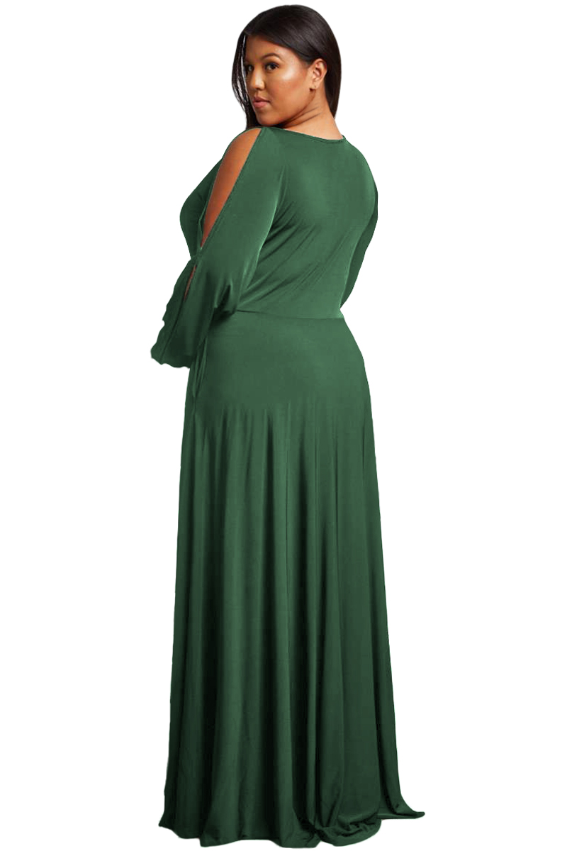 Army-Green-Split-Long-Sleeve-Plus-Size-Maxi-Dress-LC610516-9-2