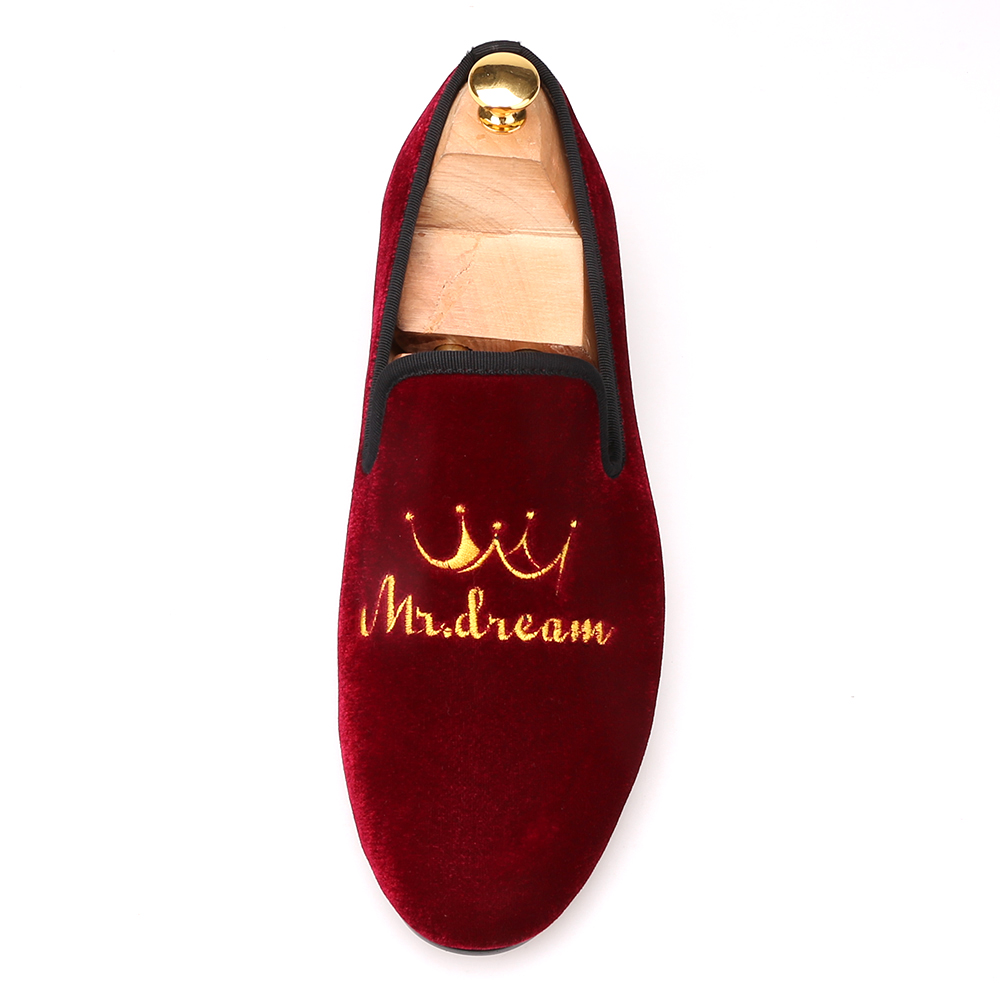 fd191a1f8 New style crown embroidery handmade men velvet shoes men loafers wedding  and party shoes men flats. sku: 32876765749