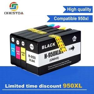 Obestda 4x Compatible HP 950 951 XL ink Cartridge for 950XL 951XL hp Officejet pro 8100 8610 8620 8630 8600