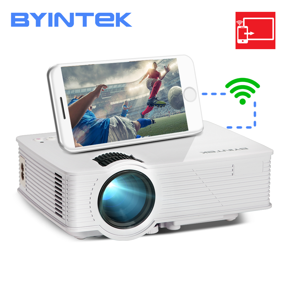 BYINTEK LED Projector Smartphone Multi-Screen Mini Home Theater Wireless SKY HD for Bt140plus