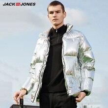 Jack Jones Men Winter Down Jacket Stand-up Collar Glossy Thick Warm Down Jacket  218312525 все цены