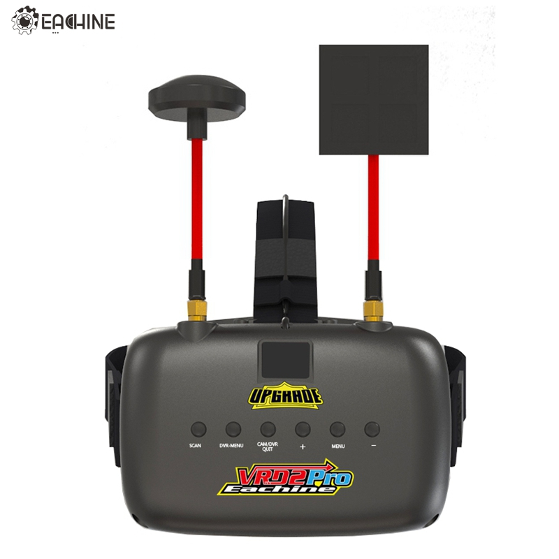Eachine VR D2 Pro Upgraded Open Source 5 Inches 800*480 40CH 5.8G Diversity FPV Goggles w/ DVR Lens Adjustable FPV Goggle  new eachine vr d2 pro upgraded open source 5 inches 800 480 40ch 5 8g diversity fpv goggles w dvr lens adjustable fpv goggles