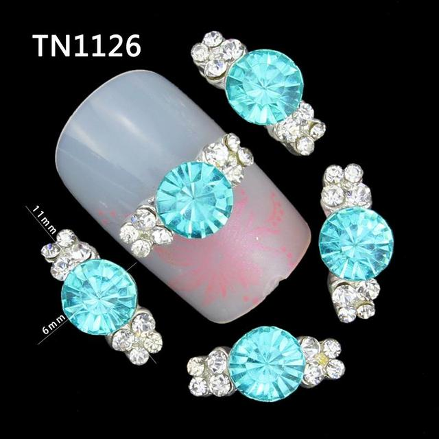 10 in A Pack Blue Crystal Nail Art