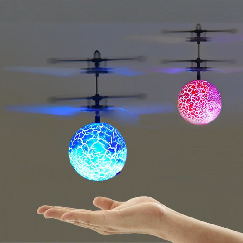 mini drone RC Helicopter Aircraft Flying Ball flying toys Ball Shinning LED Lighting Quadcopter Dron fly Helicopter Kids toys 2019 new electric flying ball luminous toys led light mini helicopter infrared induction aircraft flashing ball for kids lantern
