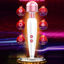 Sex Shop 12 Speed Mini Magic Wand Vibrator Waterproof Dildo G Spot Clitoris Stimulator Adult Erotic Sex Toys Machine For Women leten magic wand massager dual penetrations waterproof erotic product sex toys for women g spot multi speed vibrator sex machine