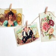 30 unids/lote papel Vintage postal Inglaterra tarjetas postales con estilo tarjetas de felicitación de cumpleaños Festival invitación regalo Oficina De estudiante