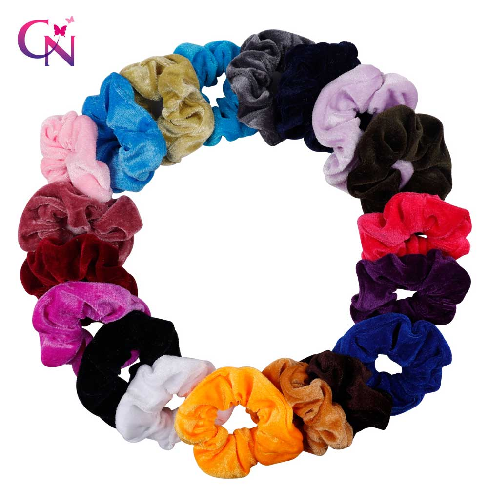 Women Solid Velvet Scrunchie Elastic Hair Bands Ponytail Holder Hair Scrunchies Rubber Band Headband Gum For Hair Accessories