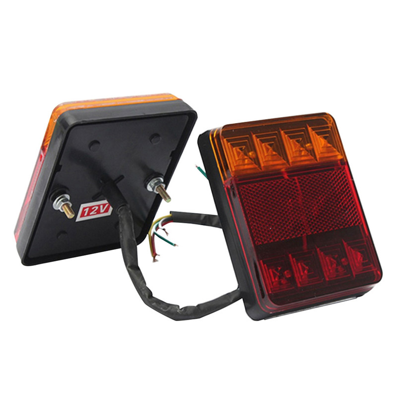 1 Pcs 12V Car Truck LED Rear Tail Light Warning Lights Rear Lamps Taillight