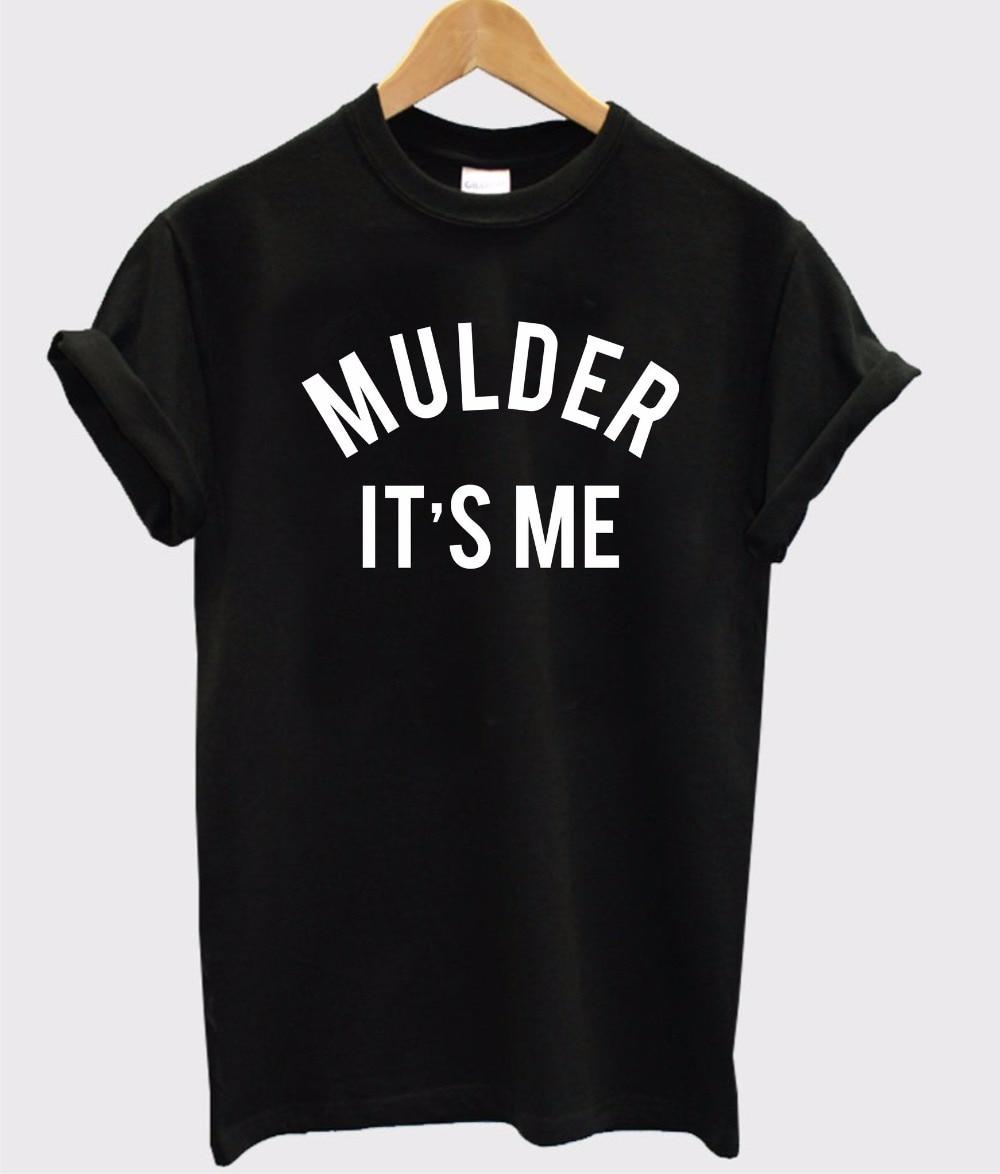 Mulder It 39 S Me Letters Print Women Women Tshirt