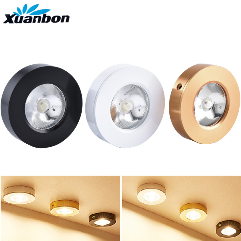 Ultra-thin 3W 5W 7W 9W 12W 3Color Round Led Panel Light Surface Mounted Led Ceiling Downlight AC220V 230V Warm White Cold White
