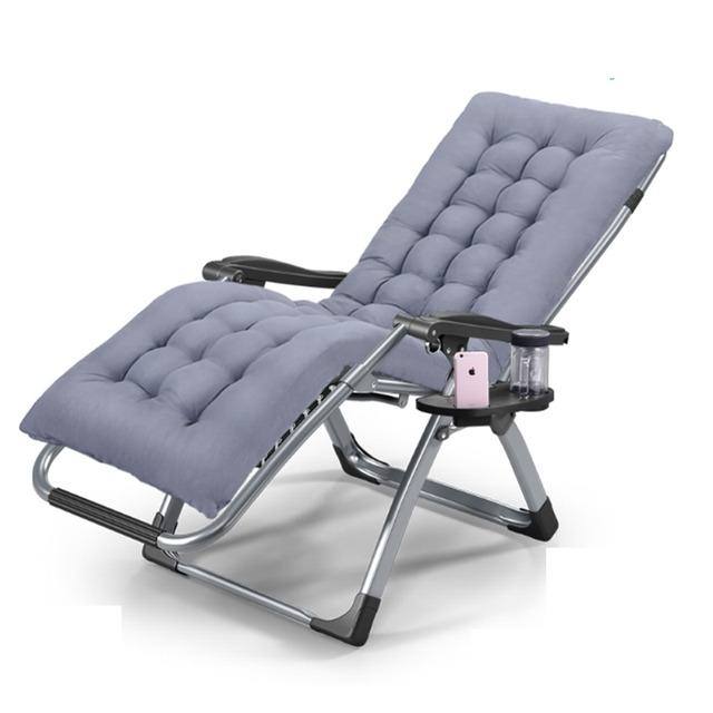 Lounge Chair Patio Folding With Back Support Elderly Rocking Leisure Foldable Chaise Bed Outdoor Beach Camping Recliner Pool Yard