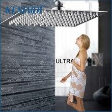 """KEMAIDI """" 8"""" 1"""" 12"""" 1"""" 20 дюймов квадратная хромированная и никелевая ультратонкая насадка для душа с дождевой насадкой для душа для ванной комнаты"""